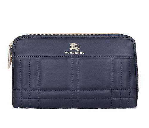 Burberry Smooth Leather Clutch BU2231 Blue
