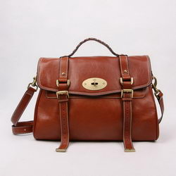Mulberry Shoulder Bags Light Coffee Cow Leather 7539