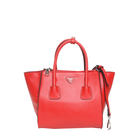 Prada Original Grainy Calf Leather Tote Bag BN2625 Red