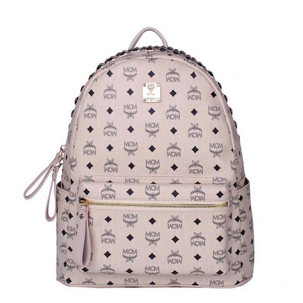 MCM Medium Top Studs Backpack MC4232 Beige