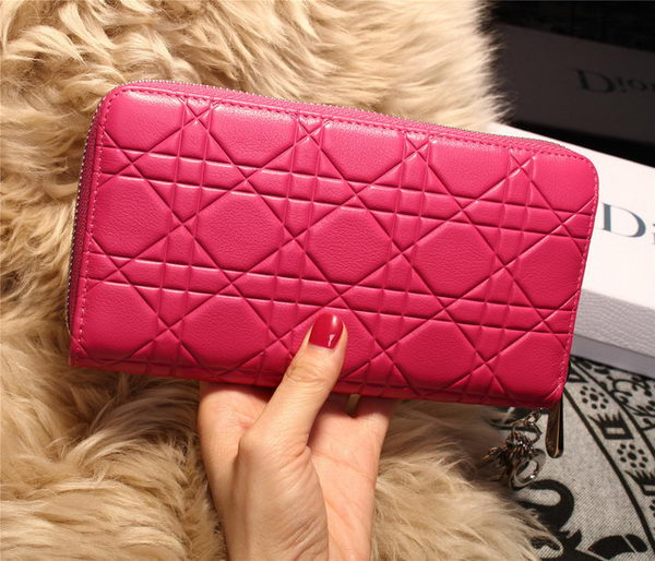 Dior Escapade Wallet in Sheepskin Leahter D1873 Rose