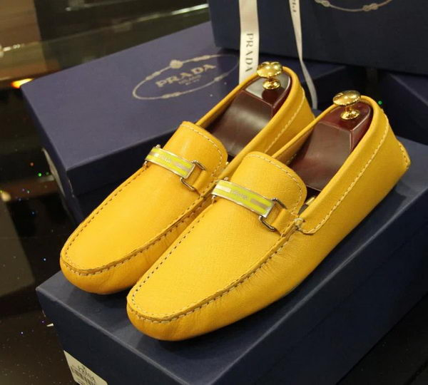 Prada Casual Shoes Calfskin Leather PD368CK Yellow