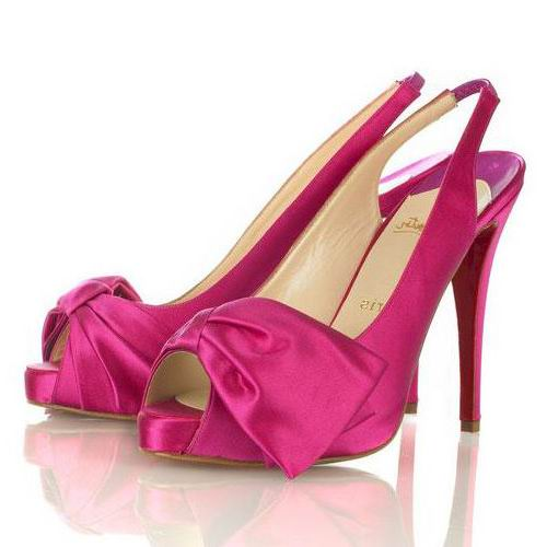 Christian Louboutin Satin Dorsays Rose Sandals