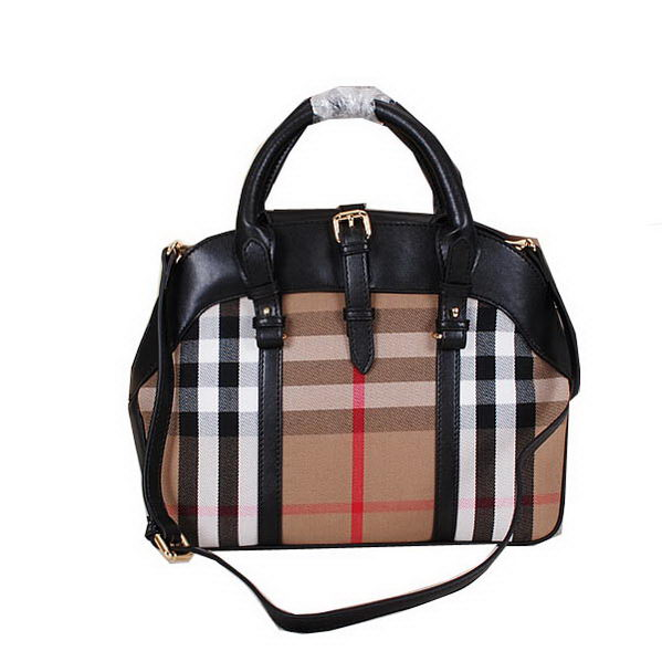 BurBerry Bridle House Check Tote Bag 13614 Black