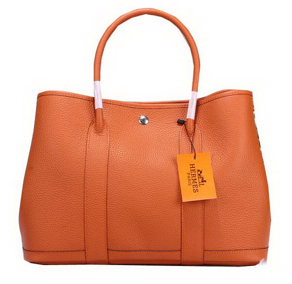 Hermes Garden Party 36cm Tote Bag Grainy Leather Orange