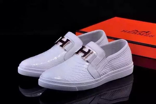 Hermes Casual Shoes Snake Leather HO0498 White