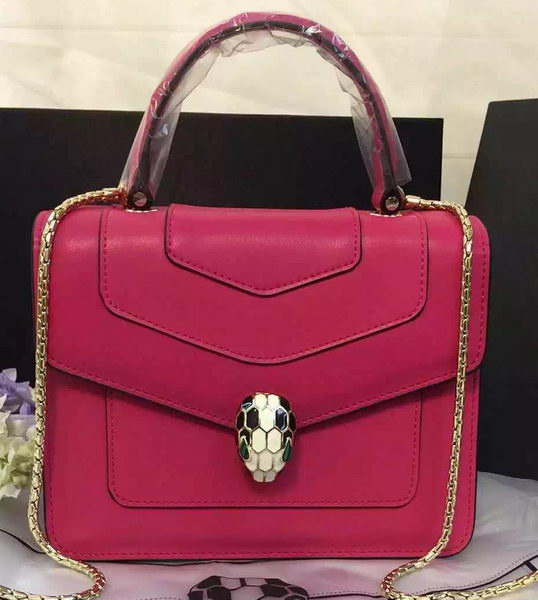 BVLGARI Serpenti Forever Bag Original Leather BG48042 Rose