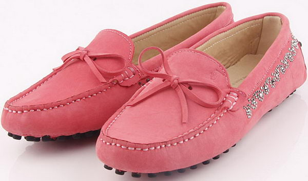 Tods Ballerina Suede Leather TO253 Pink