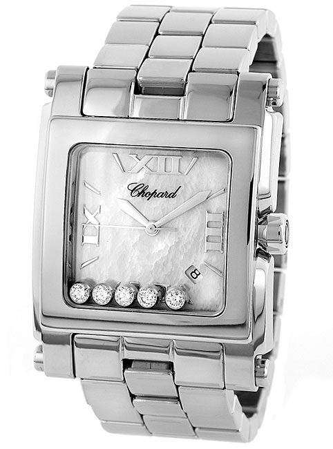 Chopard Happy Sport Series Square Mother of Pearl Ladies Swiss Quartz Watch 288467