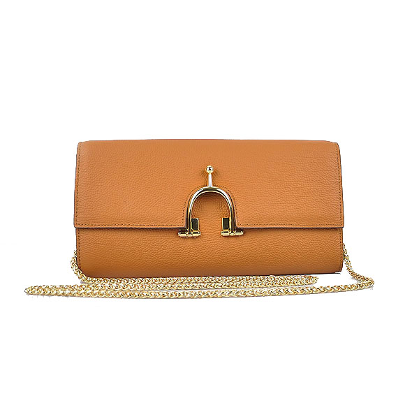 Hermes 2012 Smooth Calf Leather Shoulder Bag Brown