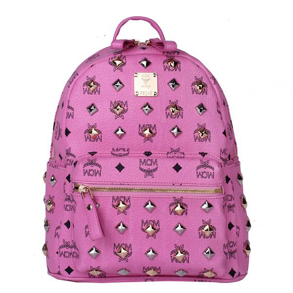 MCM Stark Studded Small Backpack MC2089S Rosy