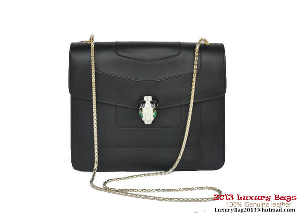 Bulgari Shoulder Bag Nappa Leather B34563 Black