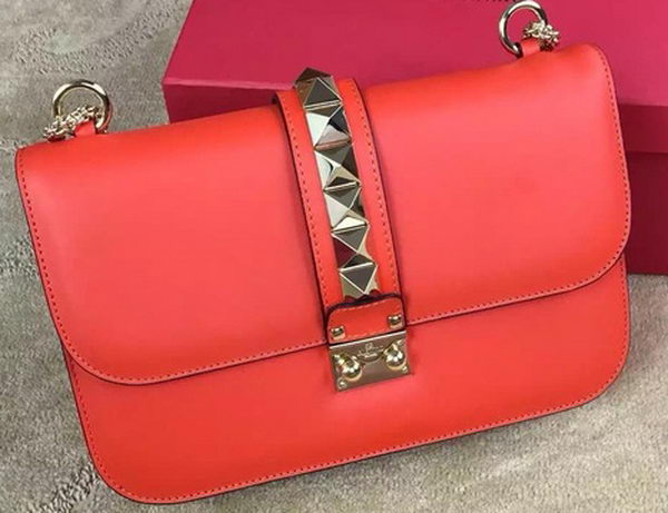 Valentino Garavani Chain Shoulder Bag Calfskin JW2B0398VIT Orange