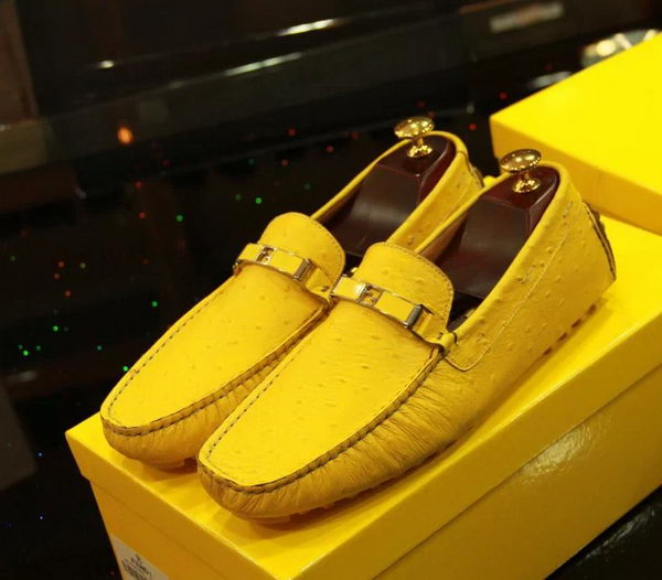 Fendi Casual Shoes Calfskin Leather FD056CK Yellow