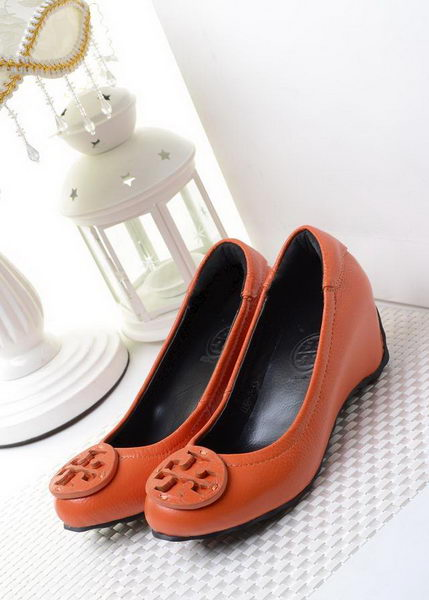 Tory Burch Wedge Heel Leather TB1494 Orange