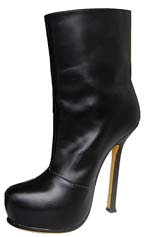 YSL fashion sheepskin ankle boot black