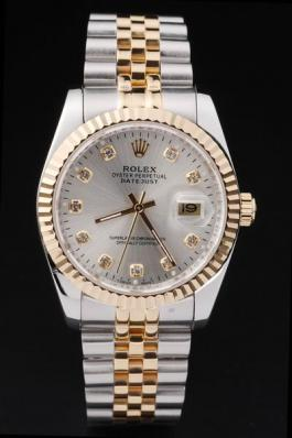 Rolex Datejust Golden Cutwork White Surface Watch-RD2369