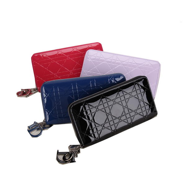 Dior Escapade Wallet in Patent Leahter D0811
