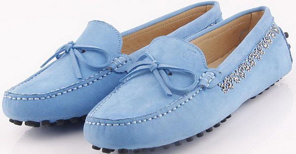 Tods Ballerina Suede Leather TO253 Blue