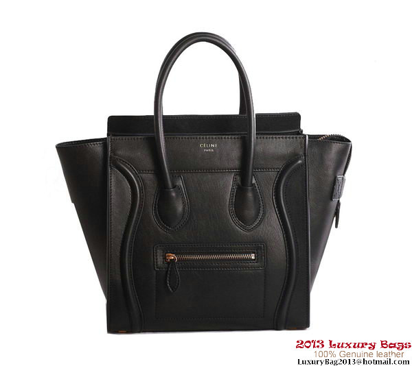 Celine Luggage Micro Boston Bag Original Leather Black