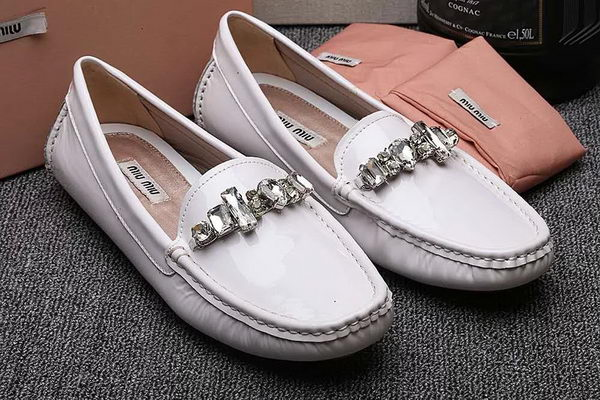 miu miu Casual Shoes Patent Leather MM334 White