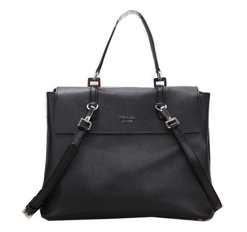 Prada Calfskin Leather Tote Bag BN2789 Black