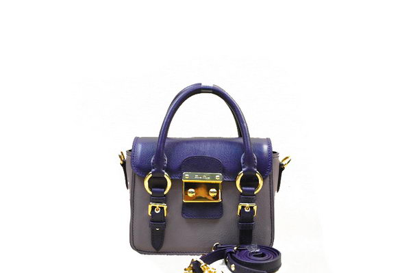 miu miu Madras Goat Leather mini Shoulder Bag RN1014 Purple