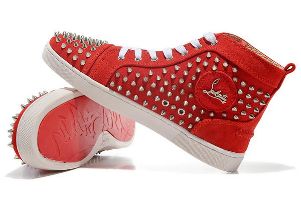 Christian Louboutin Casual Shoes Suede Leather CL878 Red