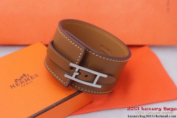 Hermes Genuine Leather Bracelet H1151_4