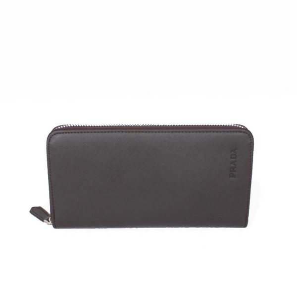 Prada Saffiano Leather Zippy Wallet 2M1318 Brown