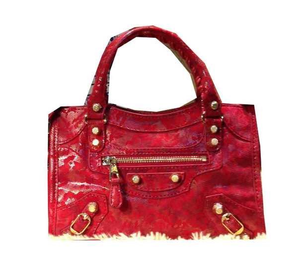 Balenciaga Small Lace Part Time Bag 88023 Red