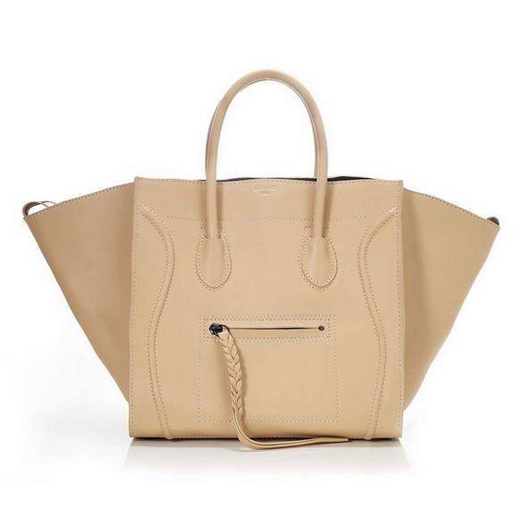 Celine Phantom Original Leather Bags Cream