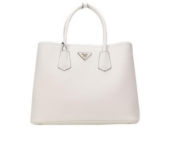 Prada Saffiano Leather Tote Bags BN2756 White