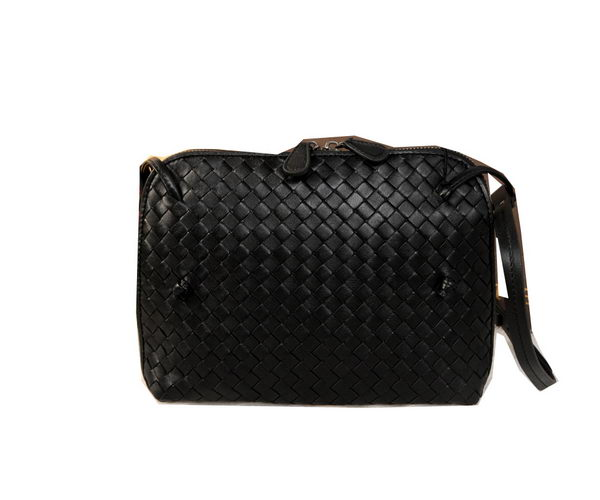 Bottega Veneta BV1515 Black Intrecciato Nappa Cross Body Bag