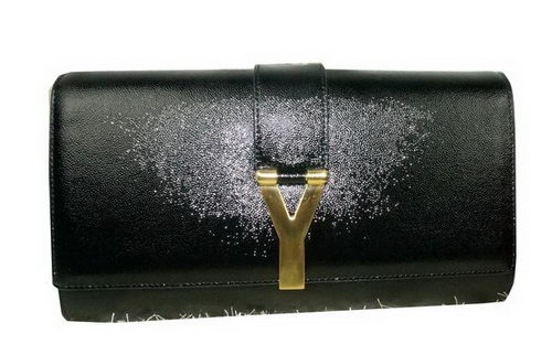 Yves Saint Laurent Chyc Travel Case Grainy Leather Y26570 Black