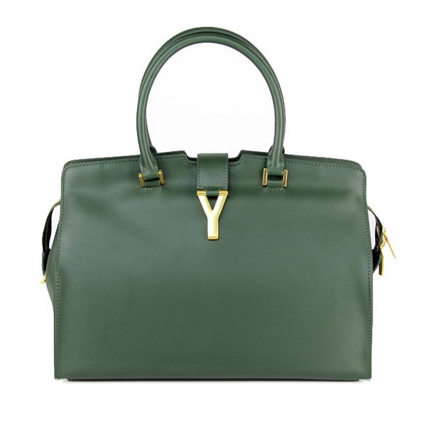 Yves Saint Laurent Medium & Small Cabas Chyc Bag Green