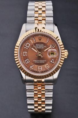 Rolex Datejust Rose Gold Stainless Steel Watch-RD3813
