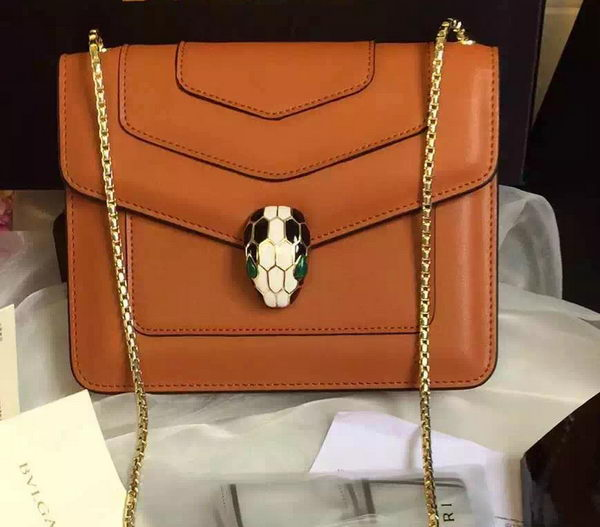 BVLGARI Small Shoulder Bag Calfskin Leather BG48043 Wheat