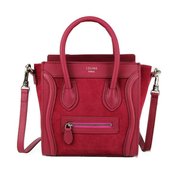 Celine Luggage Nano Bag Original Leather 88023 Burgundy