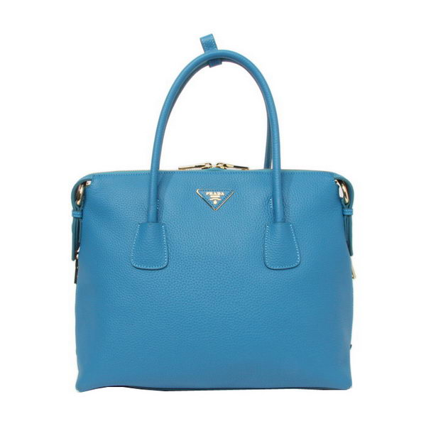 Prada Original Leather Two-Handle Bag BN0890 Light Blue