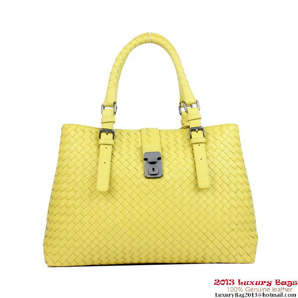 Bottega Veneta Light Calf Intrecciato Roma Bag 285411 Yellow