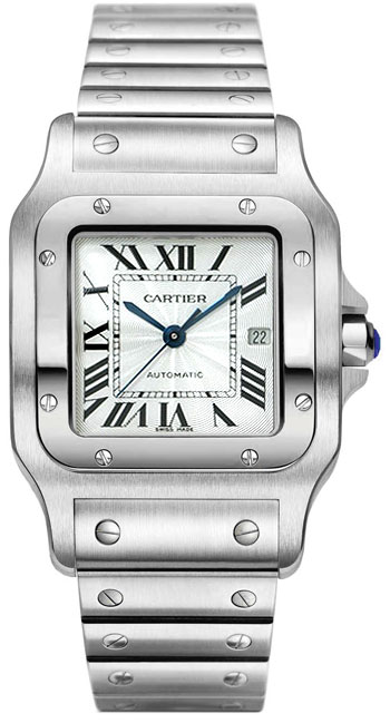 Cartier Santos Stainless Steel Mens Automatic Wristwatch-W20055D6