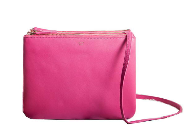 Celine Trio Crossbody Messenger Bag C3000 Rose
