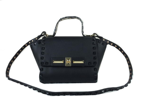 Valentino Garavani Rockstud Shopping Bag Calfskin Leather VO1922S Black