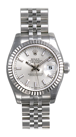 Rolex Lady Datejust Series Ladies 18kt White Gold Automatic Wristwatch 179174-SSJ