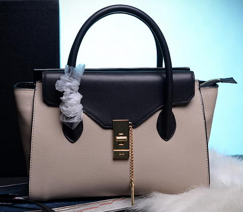 CHLOE Smooth Calfskin Leather Tote Bag C6814 OffWhite