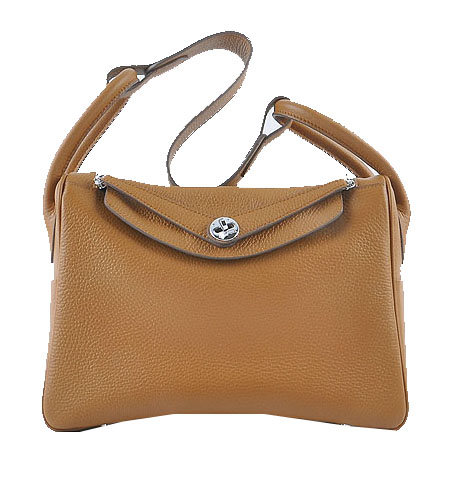 Hermes Lindy 30CM Grainy Leather Shoulder Bag H6207 Wheat