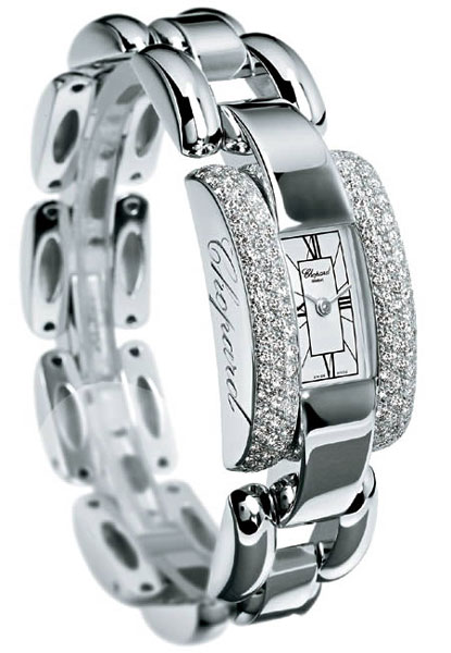 Chopard La Strada Series Diamond 18kt White Gold Ladies Swiss Quartz Watch 416547