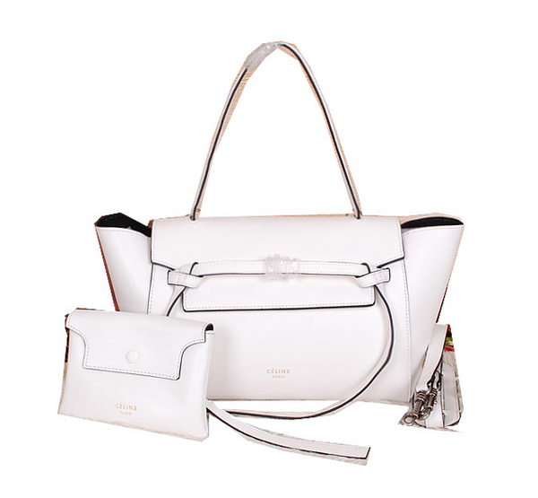 Celine Belt Bag Smooth Calfskin Leather C3396 White