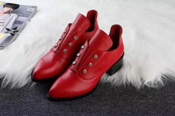 ALEXANDER MCQUEEN Ankle Boot Sheepskin MCQ273 Red